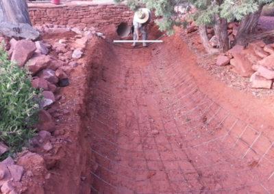 Desert-Scape-drainage-erosion-control-before-sedona-arizona